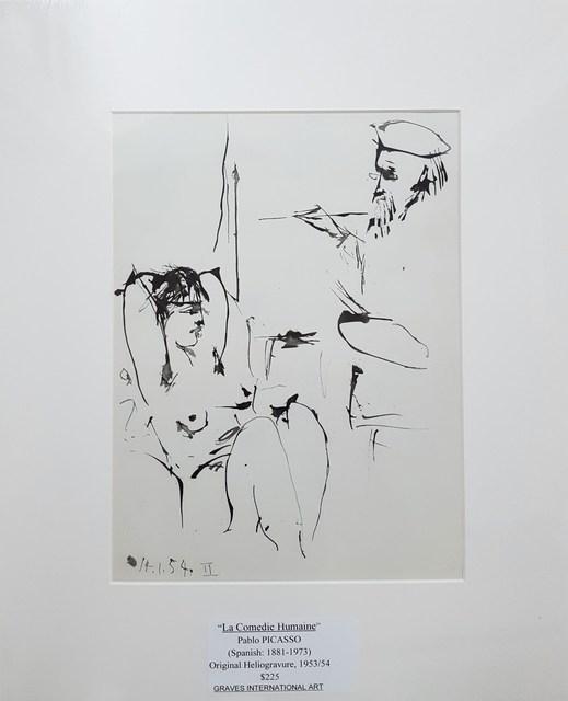 Pablo Picasso, 'La Comedie Humaine', 1954, Print, Heliogravure, Graves International Art