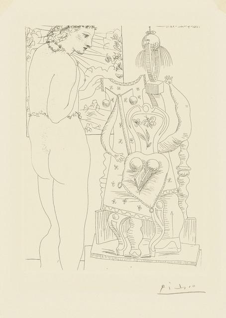 Pablo Picasso, 'Modèle et sculpture surréaliste, from: La Suite Vollard', 1933, Print, Etching on Montval laid paper, Christie's