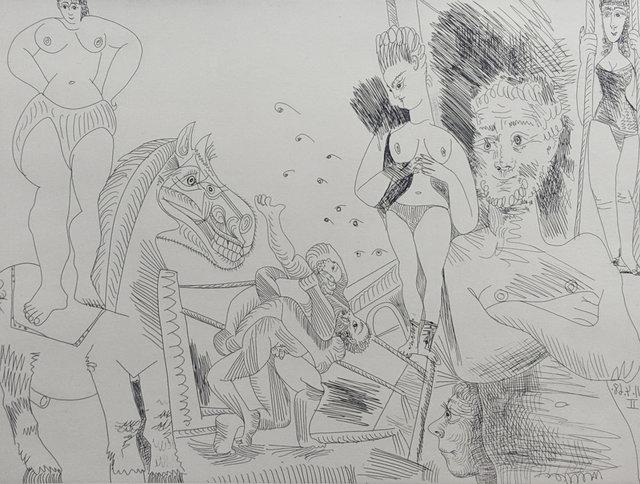 Pablo Picasso, 'Cirque et Catch from Séries 347 (B1505)', 1969, Capsule Gallery Auction