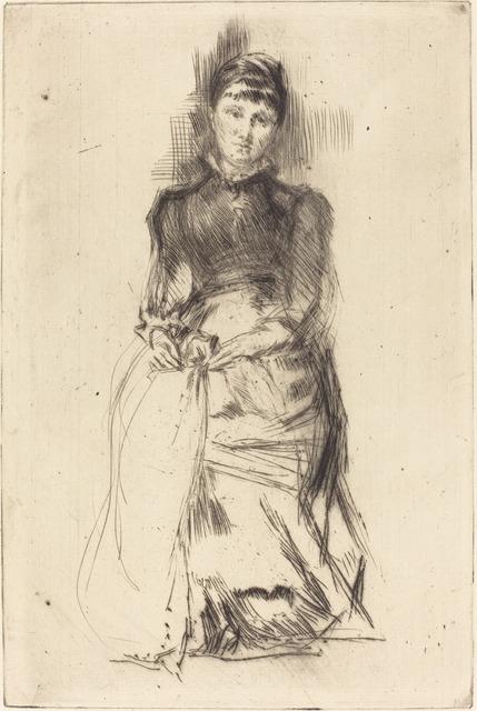 James Abbott McNeill Whistler, 'Agnes', ca. 1873/1875, National Gallery of Art, Washington, D.C.