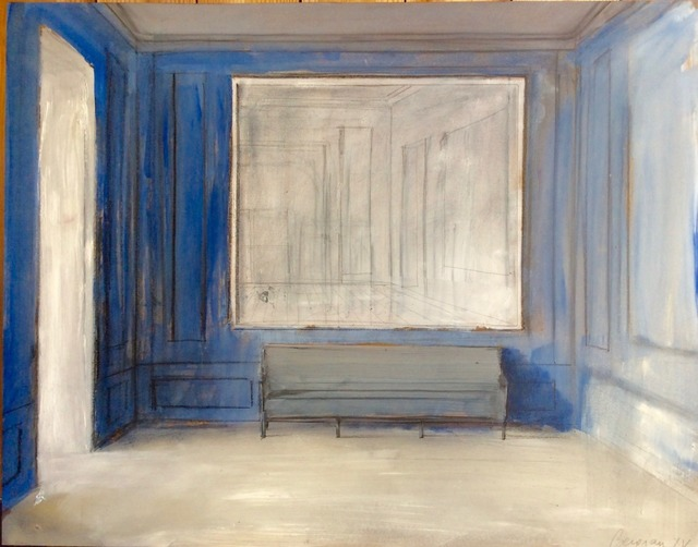, 'Blue Room with Bench,' 2015, Purdy Hicks Gallery