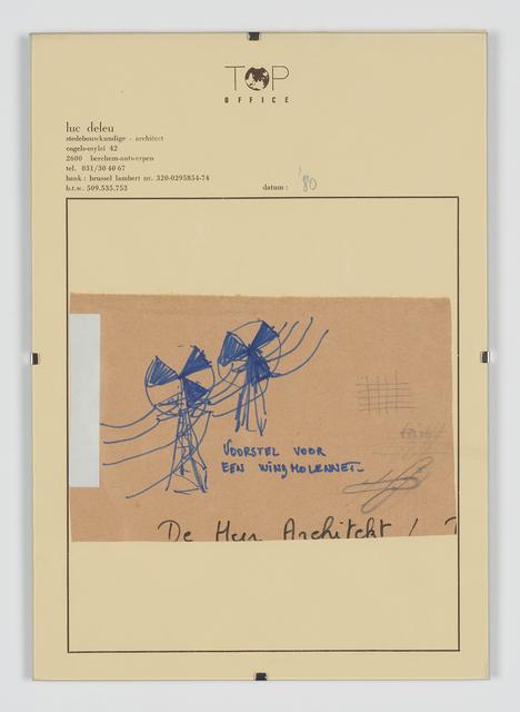 , 'Voorstel Voor een Windmolennet,' 1980, Tatjana Pieters