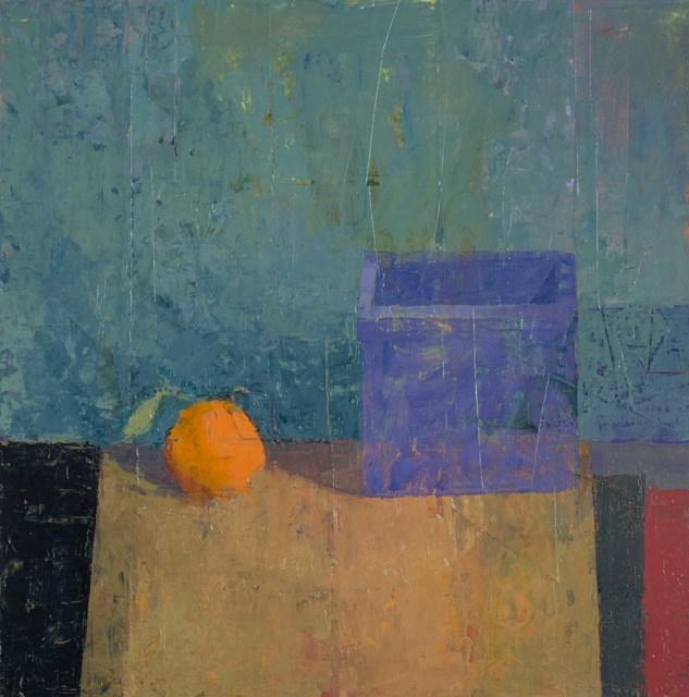 , 'Tangerine Cube,' 2019, Thomas Deans Fine Art