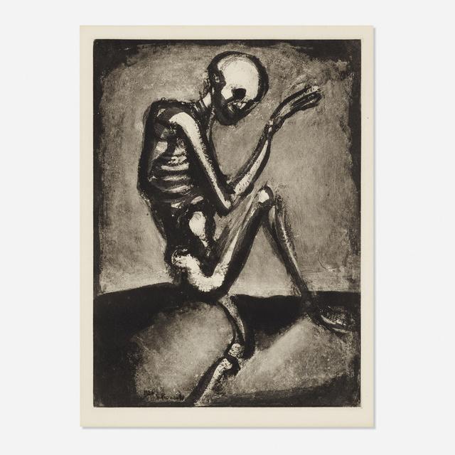 Georges Rouault, 'Squelette from Les Fleurs du mal', 1926, Print, Aquatint on paper, Rago/Wright
