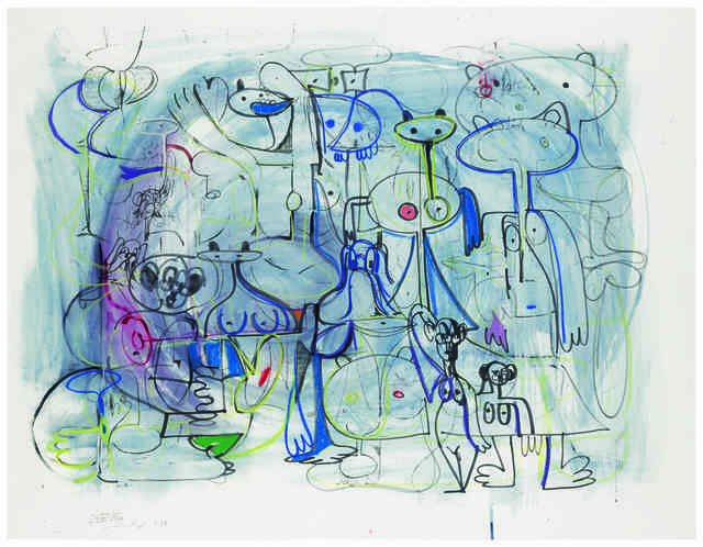 , 'Abstract Composition in Blue,' 1997, ARCHEUS/POST-MODERN