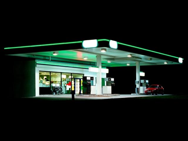 Ralf Peters, 'Petrol Stations (green, black)', 1998, Bernhard Knaus Fine Art