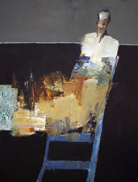 Danny McCaw, 'Seated Figure III', Painting, Oil on canvas (framed), Sue Greenwood Fine Art