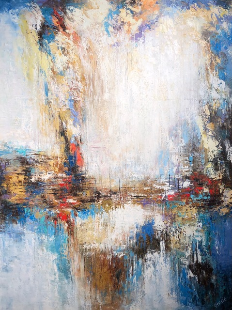 Elías José García, 'White & Blue Abstract ', 2016, Il Concept Art Gallery