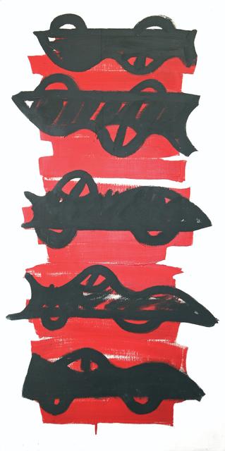 R.V. (Robin Vanarsdol), 'Two and Three Corvettes', 1980, The Painting Center