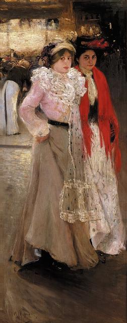 Oleksandr Murashko, 'Parisiennes. At the Cafe', 1902-1903, Painting, Oil on canvas, National Art Museum of Ukraine