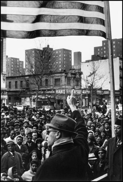 , 'Malcolm X Gives Speech at Rally, Harlem, New York, New York ,' 1963, Jenkins Johnson Gallery