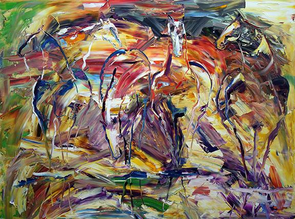 , 'Water Hole Meeting, Crested Butte,' 2017, Mirada Fine Art