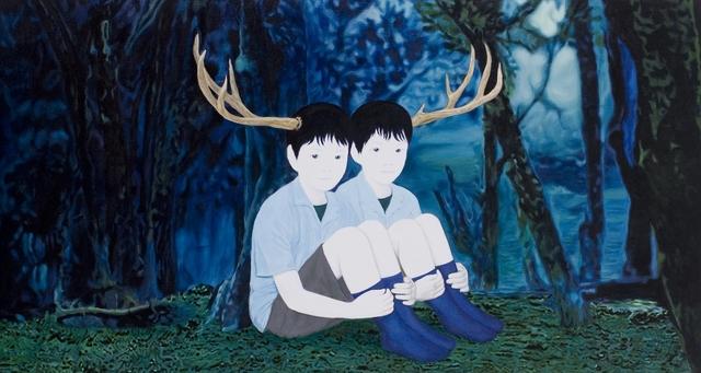, 'two deer,' 2010, Gallery Tsubaki