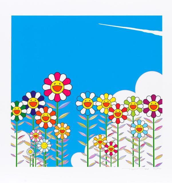 Takashi Murakami, 'Vapor Trail in the Blue Summer Sky', 2018, Print, Digital Print, Ode to Art