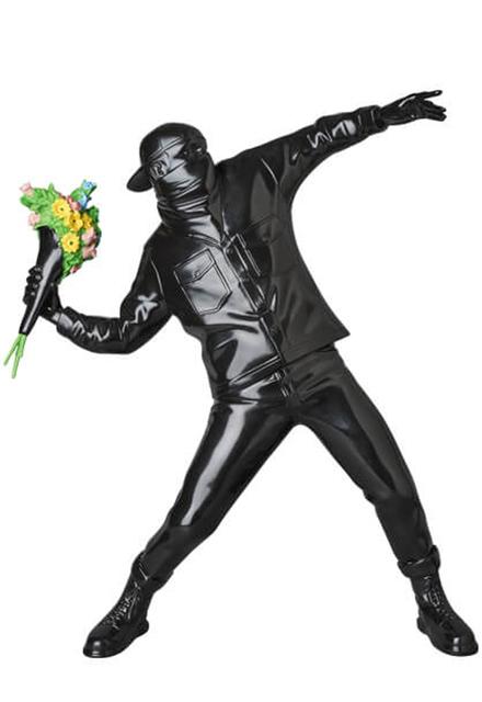 Banksy, 'Flower Thrower Black', 2019, EHC Fine Art Gallery Auction