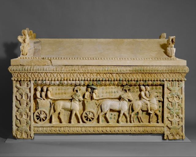 Unknown Cypriot, 'Limestone sarcophagus: the Amathus sarcophagus', 2nd quarter of the 5th century B.C., The Metropolitan Museum of Art