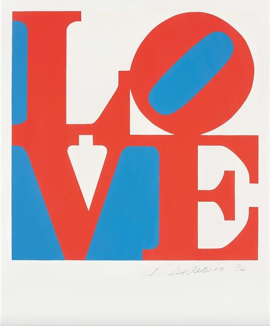 , 'LOVE (Red/White/Blue),' 1996, Contini Art UK