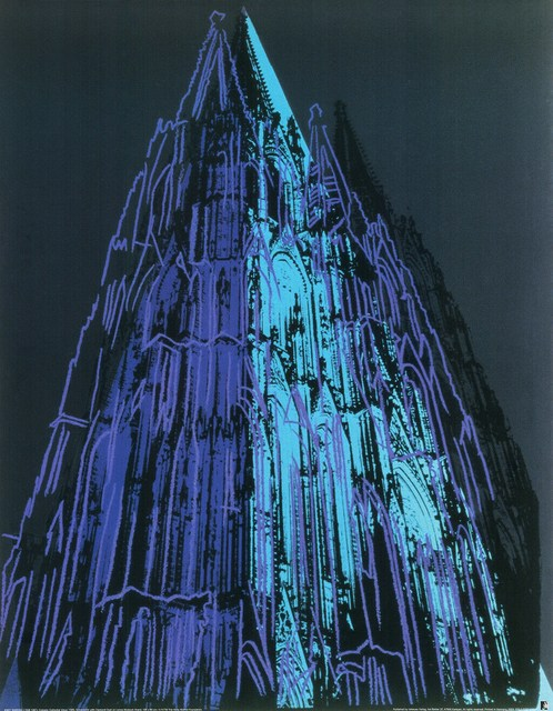Andy Warhol, 'Cologne Cathedral (blue), 1985', 1985, Reproduction, Offset Lithograph on heavy paper, Cerbera Gallery
