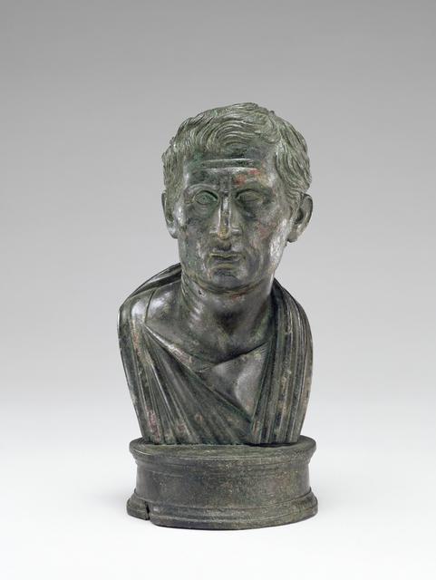 'Portrait Bust of Menander',  1 -25, J. Paul Getty Museum