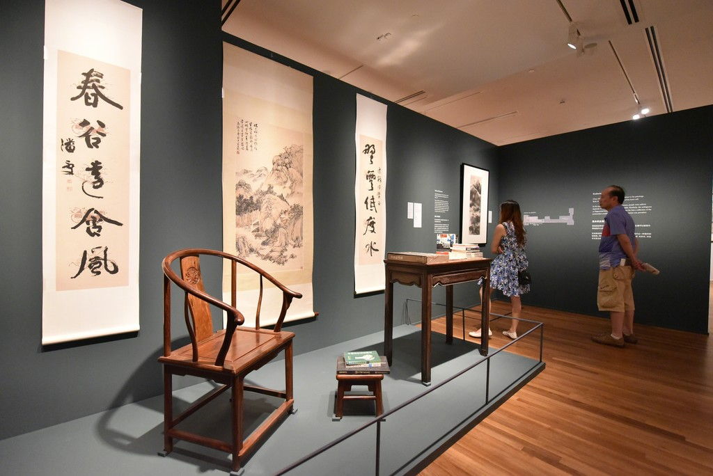 """Installation view of """"After the Rain: A Reflection of Chua Ek Kay's artistic journey"""" at National Gallery Singapore (2015-2016)"""