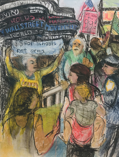 , '#8234 Occupy Wall Street: Times Square #2,' 2012, Salomon Arts Gallery