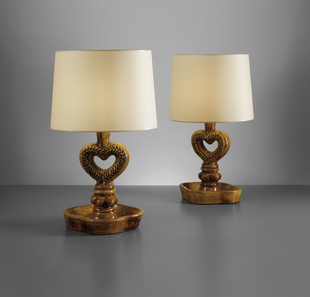 Georges Jouve, 'Pair of table lamps', circa 1950, Phillips