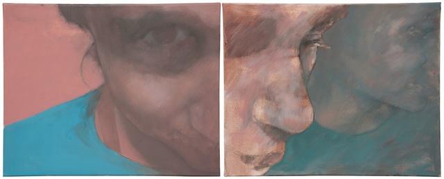 , 'Gaze, Diptych,' 2013, Galerie Sandhofer