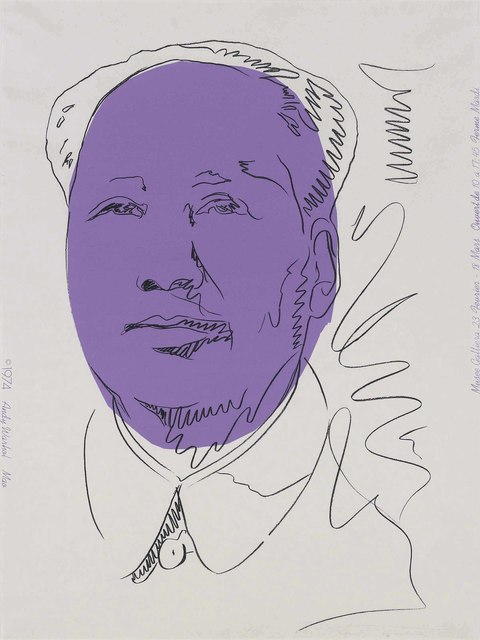 Andy Warhol, 'Mao', 1974, Print, Screenprint in colours on wallpaper, Christie's