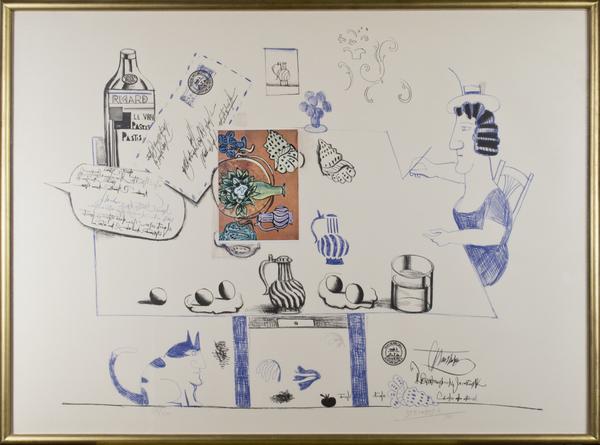 , 'Matisse Postcard Ed: 80/100 - Six Drawings Tables,' 1970, David Barnett Gallery