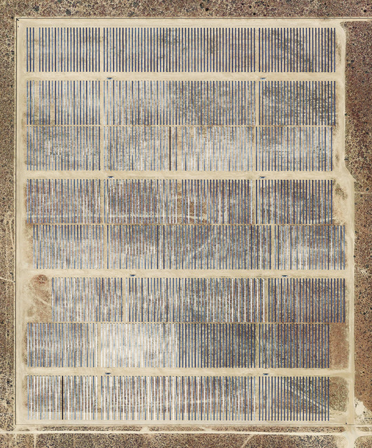 Mishka Henner, 'Garland Solar Power, Rosamond, California', 2018, Photography, Inkjet print on metallic rag and mounted to Dibond in floating frame with non-reflective and polarized glass (2mm), Galleria Bianconi