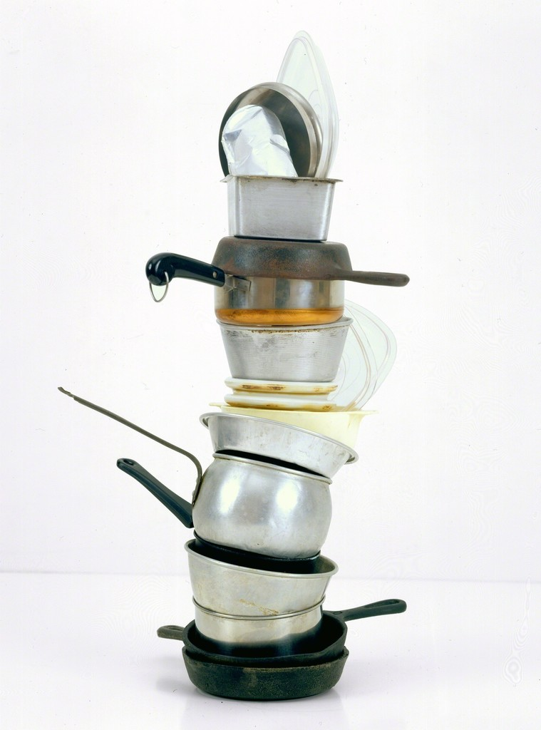 No Title (mini stacked pots and pans III, rectangular bread pan)