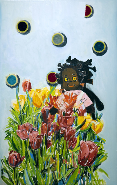 Beverly McIver, 'Gracie with Tulips', 2019, C. Grimaldis Gallery