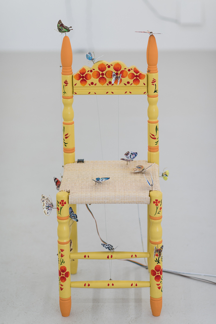 , 'Yellow Butterfly Chair,' 2017, Annka Kultys Gallery