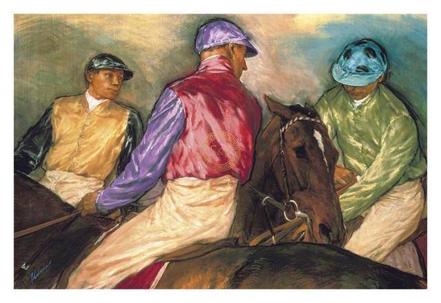 Jay Kirkman, 'Jockeys before the Start', 21st Century, Print, Gouttelette Print on Paper, S&P
