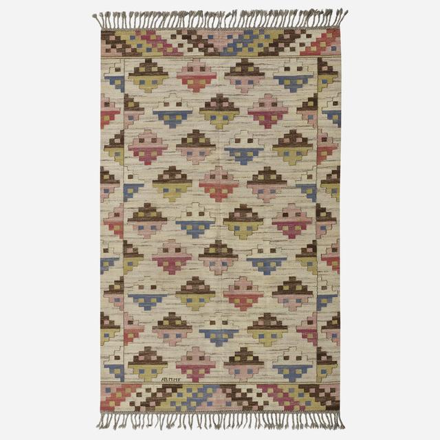 Marta Maas-Fjetterstrom AB, 'Munka Ljungby flatweave carpet', 1933, Wright