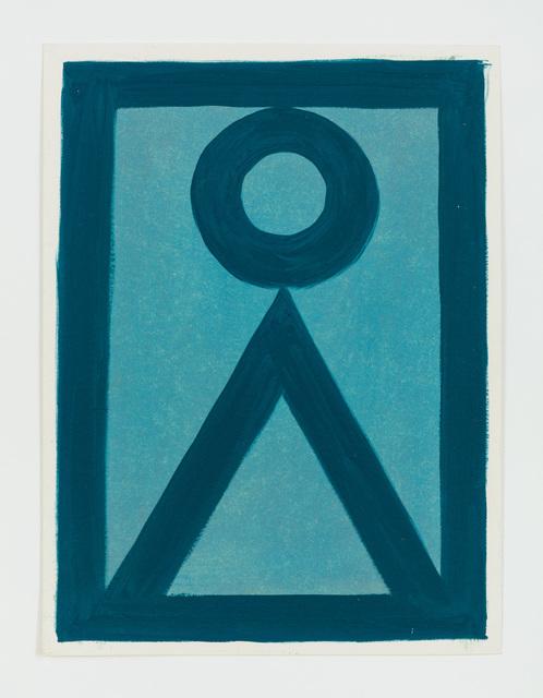, 'Untitled (Blauer Kreis, blauer Winkel) ,' 2014, Rachel Uffner Gallery
