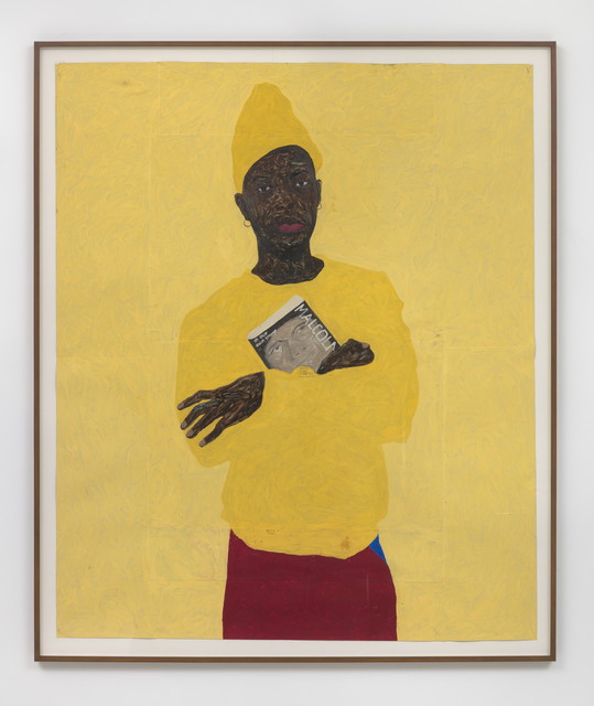 Amoako Boafo, 'In Yellow with Malcolm', 2018, Roberts Projects
