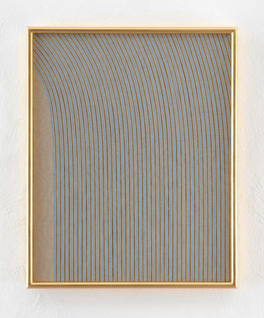 , 'Skewed Lines, Blue, Gold, Portrait,' 2018, KEWENIG