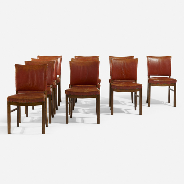 Fritz Hansen, 'Dining chairs, set of ten', c. 1945, Wright