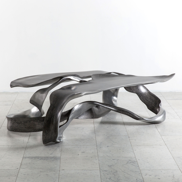 ", 'Marc Fish, Aluminum ""One Piece"" Low Table, UK, 2017,' 2017, Todd Merrill Studio"