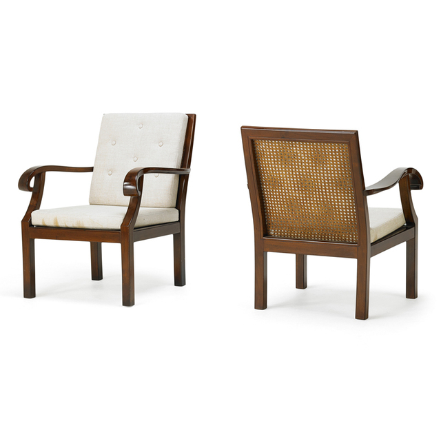 'Style Of Otto Prutscher, Pair of armchairs', 1930s, Rago/Wright