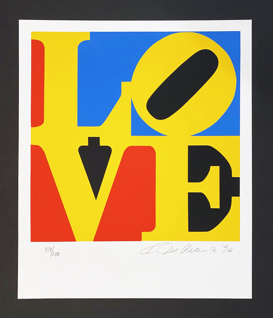 Robert Indiana, 'The Book of Love 6', 1996, Print, Serigraph, Georgetown Frame Shoppe