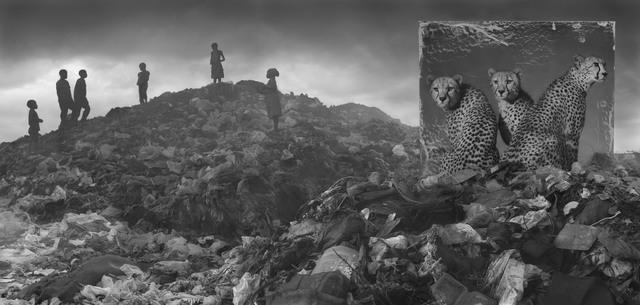 Nick Brandt, 'Wasteland with Cheetahs and Children', 2015, Edwynn Houk Gallery