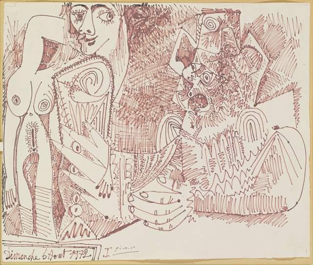 , 'Nu debout et homme tenant un Verre,' 1972, Opera Gallery