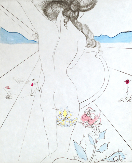 Salvador Dalí, 'The Hippies Nude With Garter', Winn Slavin Fine Art