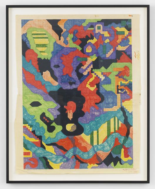 , 'Abstract #8,' 1969, Magenta Plains