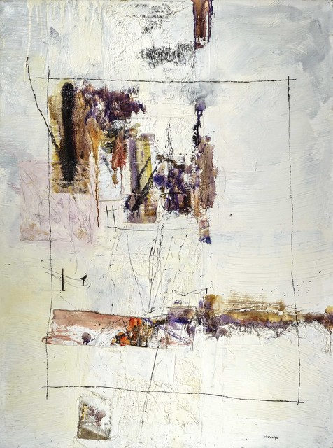 John Harrison Levee, 'Sans Titre', ca. 1962, Mixed Media, Oil and Assemblage on canvas, Westbrook Modern
