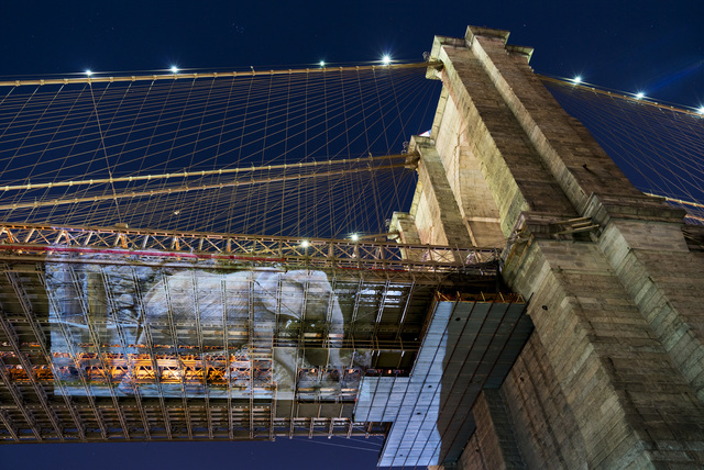 , 'Drumbo (Vienna, Austria) at Brooklyn Bridge, New York City,' 2016, Catherine Edelman Gallery