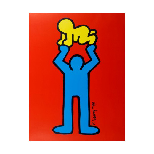 Keith Haring, 'Man Holding Radiant Baby', 1988, Gallery TAGBOAT