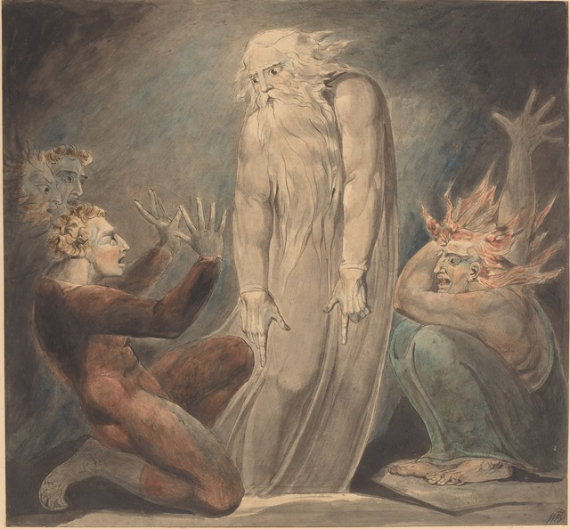 William Blake, 'The Ghost of Samuel Appearing to Saul', ca. 1800, National Gallery of Art, Washington, D.C.